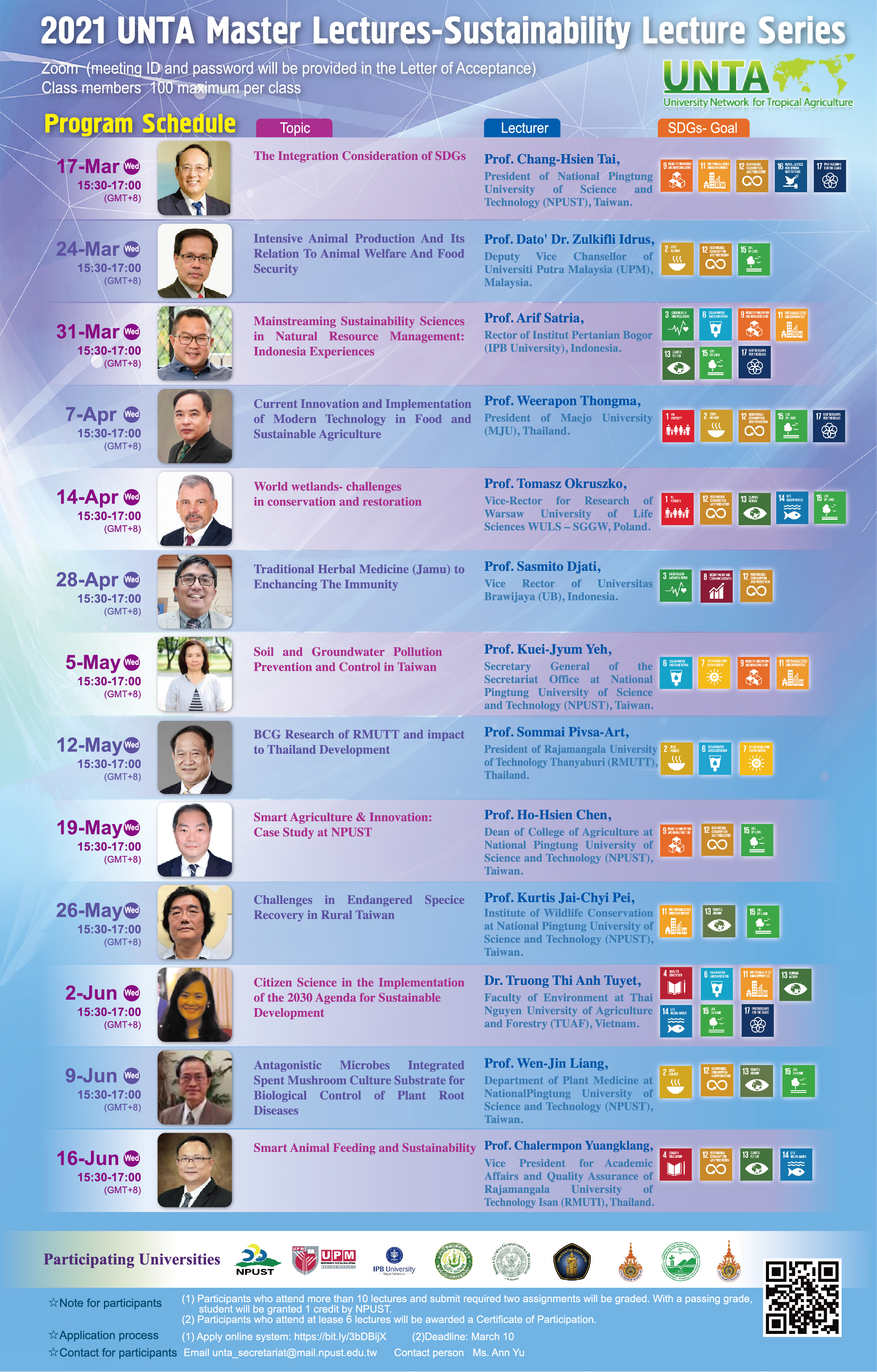 UNTA Master Lectures- Sustainability Lecture Series